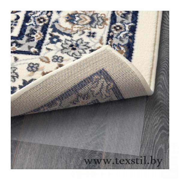 Фото Текстиль, Декоративный текстиль, Ковры Ковёр ВАЛЛОБИ, размер 200х300 см, цвет бежевый/синий