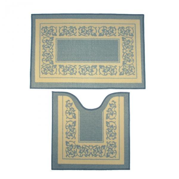 Набор ковриков для ванной и туалета 2 шт, 75x50 см, дизайн МИКС