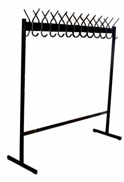 Вешалка гардеробная, напольная двухсторонняя металлическая под заказ от производителя, г.Гродно