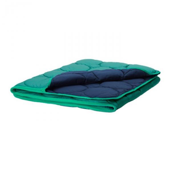 Спальный мешок ИКЕА ПС 2017, размер 160х200 см, цвет зелёный/синий