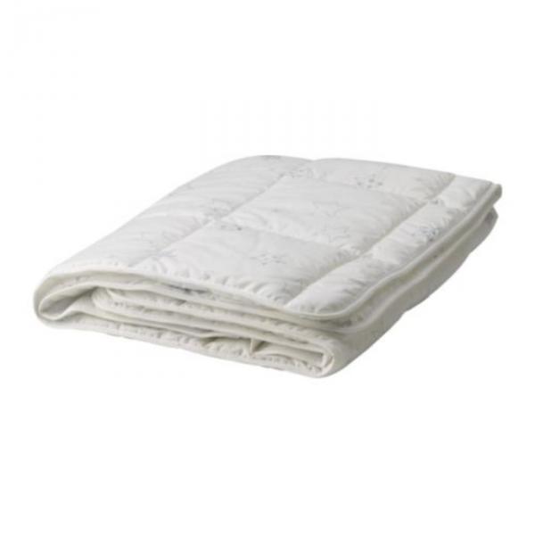 Одеяло детское ЛЕН ШЭРНА, размер 110х125 см, цвет белый/синий