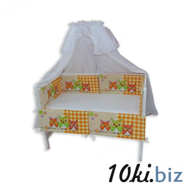 """Бортики в прямоугольную кроватку """"Совятки"""", размер 30х60 см-6 шт. цвет оранжевый купить в Гродно - Защита в детскую кроватку, бортик, бампер"""
