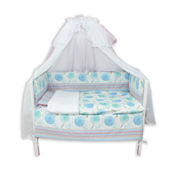 """Комплект в прямоугольную кроватку """"Одуванчик"""", 7 предметов"""