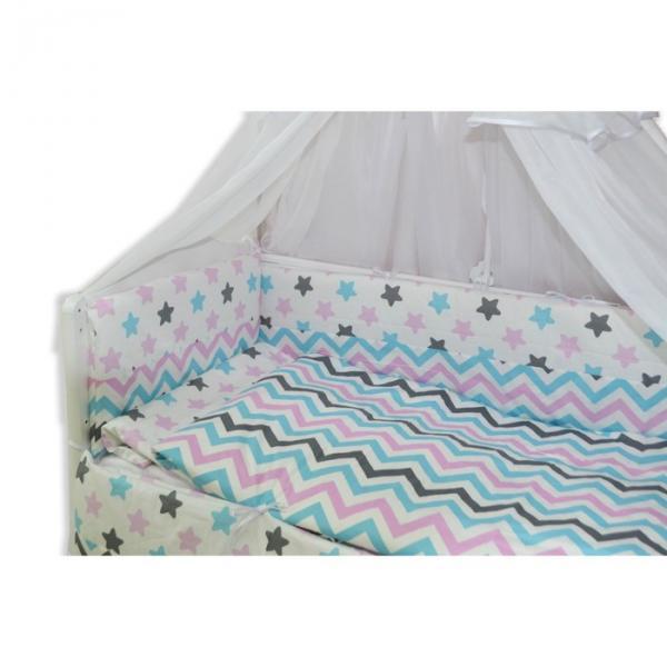 """Комплект в прямоугольную кроватку """"Звёздные сны"""", 7 предметов"""