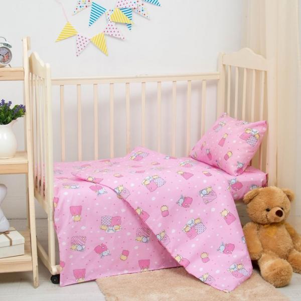 КПБ детский Баю-бай-5785-2 роз. 140х110 см, 110х140 см, 40х60 см бязь 100%х/б