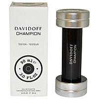 Фото  Тестер мужской парфюмированной воды Davidoff Champion