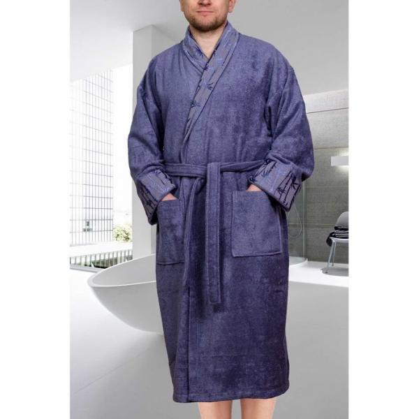 "Махровый халат ""ELIZA"", размер L, цвет серый"