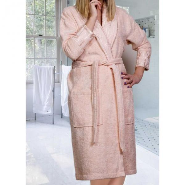 """Махровый халат """"ELIZA"""", размер S, цвет персиковый"""