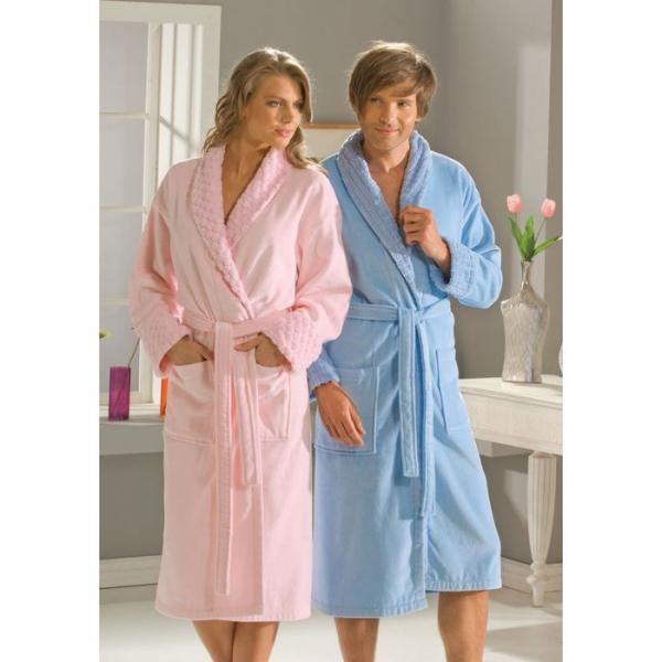 "Махровый халат ""ANGORA"", размер S, розовый"
