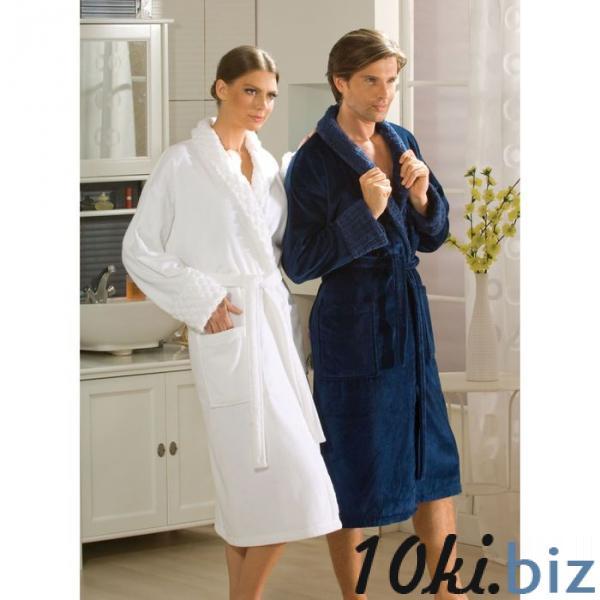 """Махровый халат """"ANGORA"""", размер XXL, цвет синий купить в Гродно - Халаты женские"""