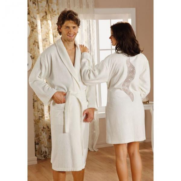 """Махровый халат """"ESTIVA"""", размер L, цвет кремовый"""