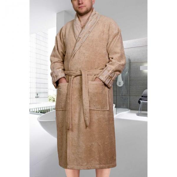"""Махровый халат """"ELIZA"""", размер L, цвет бежевый"""