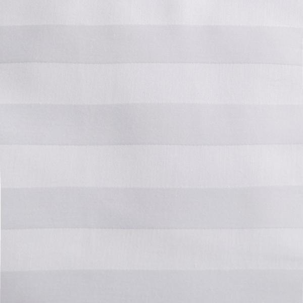 Ткань отбеленная Страйп-сатин (полоска 1х1 см) ш. 220 см, пл. 135 г/м?, хлопок 100%