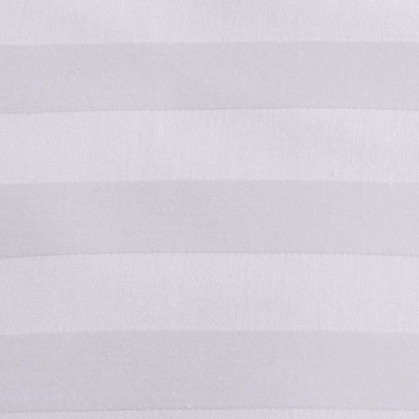 Ткань отбеленная Страйп-сатин (полоска 2х2 см) ш. 220 см, пл. 135 г/м?, хлопок 100%