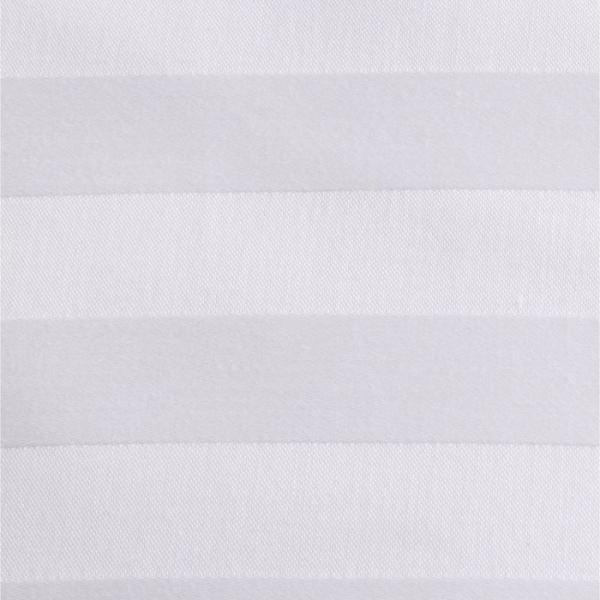 Ткань отбеленная Страйп-сатин (полоска 3х3 см) ш. 220 см, пл. 135 г/м?, хлопок 100%