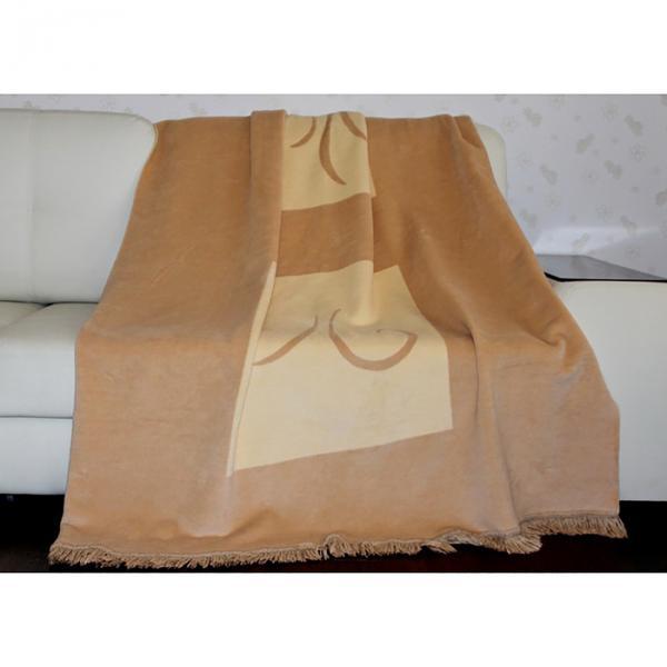 Плед PanTex Ваниль 180х220 см, 60 хл, 40 акрил, 450 гр/м