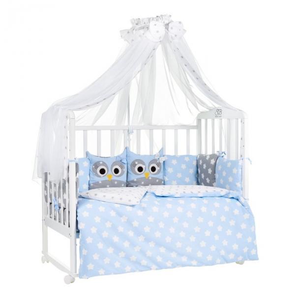 Комплект в кроватку Uccellino Blu, 7 предметов, цвет голубой