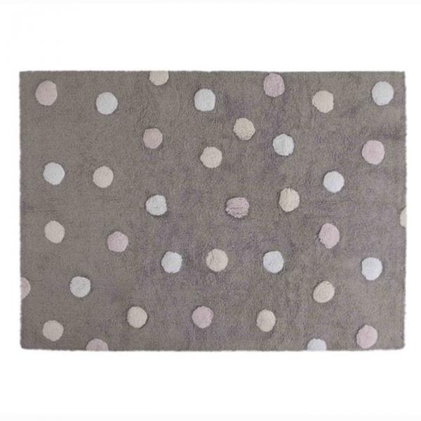 Ковёр Tricolor Polka Dots, размер 120х160 см, цвет серый/розовый