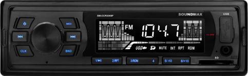 Автомагнитола Soundmax SM-CCR3055F (черный)