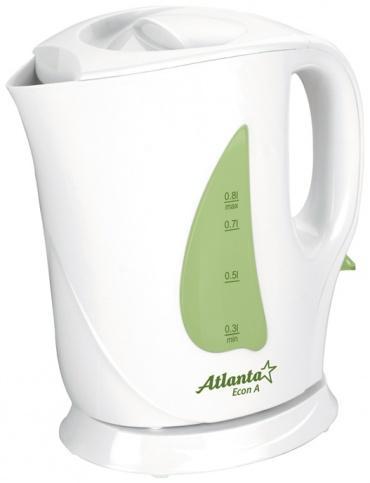 Электрочайник Atlanta ATH-717 (бело-зеленый)
