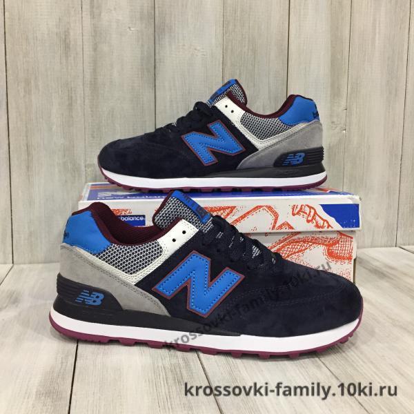 Фото Мужские кроссовки Кроссовки мужские  New Balance темно-синие