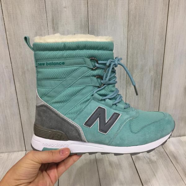 Сапожки зимние женские New Balance зеленые
