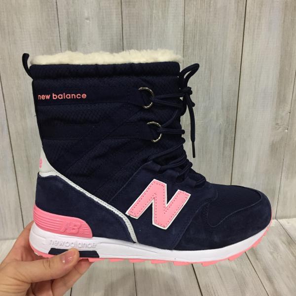 Сапожки зимние женские New Balance синие
