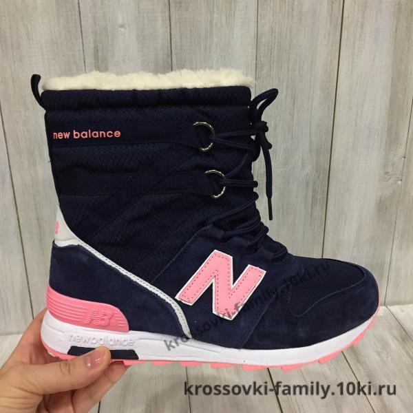 Фото Женские зимние кроссовки Сапожки зимние женские New Balance синие