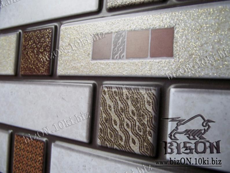 Фото Листовые панели ПВХ Мозаика «ГЛАЗУРЬ»   Листовые панели ПВХ