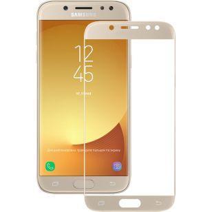 Защитное стекло 3D Samsung J5 2017 J530 Gold