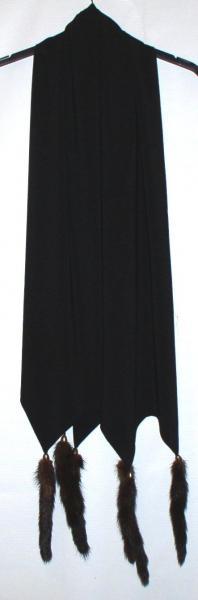 Шарф женский с норковыми хвостиками *7102