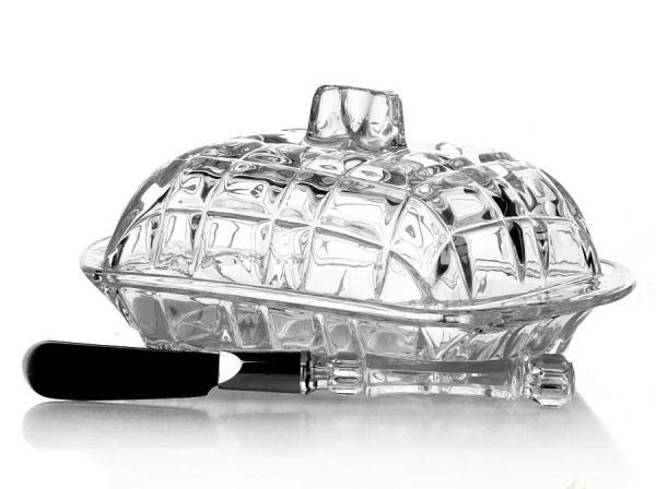 Масленка стеклянная с крышкой и ножом LEFARD 355-024