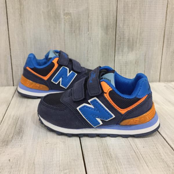 Кроссовки детские New Balance синие с оранжевым