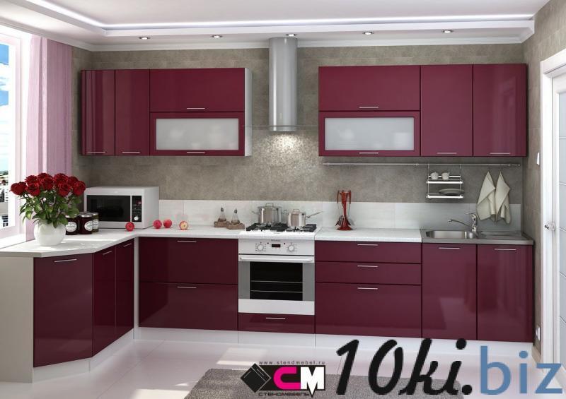 Кухня Ксения МДФ бордо глянец (Стендмебель) Мебель для кухни в России