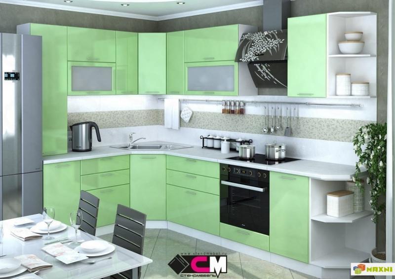 Фото Кухни модульные Кухня Ксения олива глянец (Стендмебель)