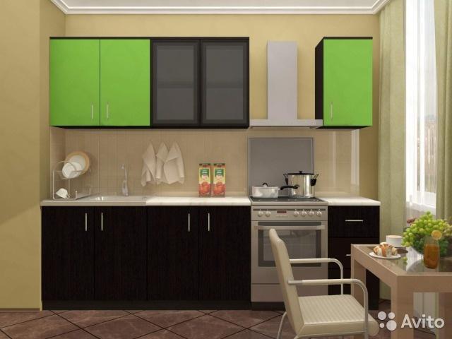 КАТЯ кухня 2,0м. венге/венге лайм