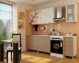 Фото кухни, кухни лдсп САКУРА кухня 2,0м. ЛДСП (фотопечать)