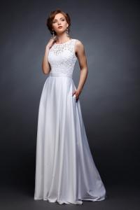 Фото Свадебные платья Хельга (от 48 размера с рукавом 3/4)