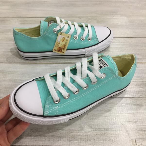 Кеды женские Converse зелёные (мята)