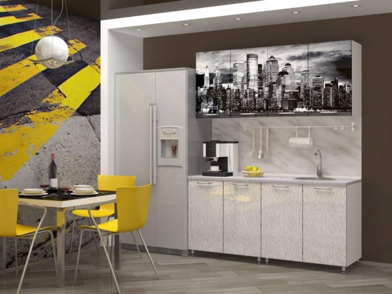 СИТИ кухня 1.6м. МДФ. Фотопечать