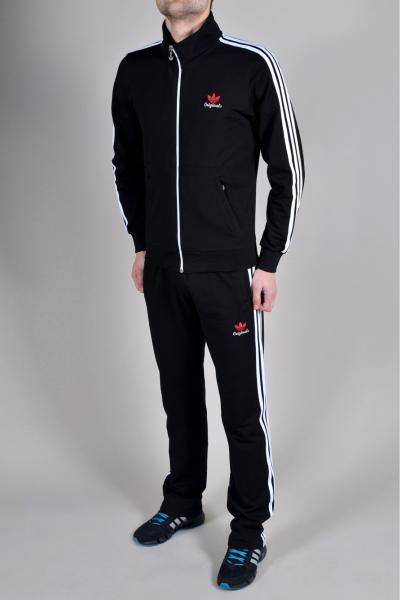 Мужской спортивный костюм Adidas Черный/белый