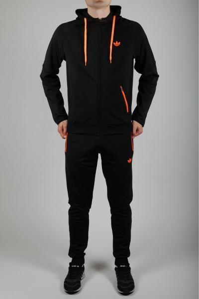 Мужской спортивный костюм Adidas Черный/оранжевый