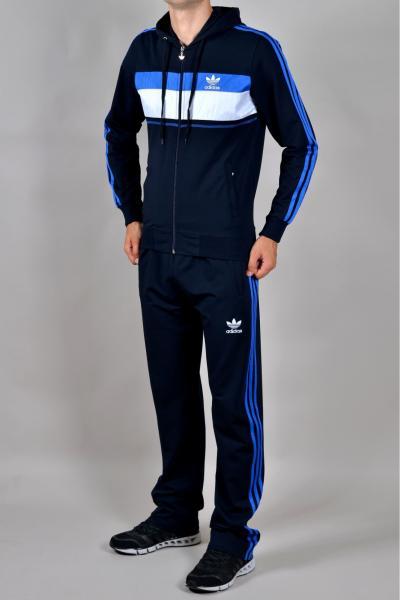 Мужской спортивный костюм Adidas Синий/белый/голубой