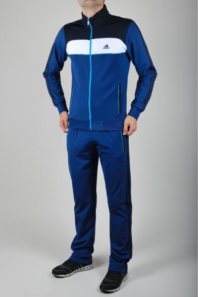 Мужской спортивный костюм Adidas Голубой/белый/синий
