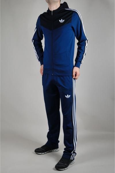 Мужской спортивный костюм Adidas Синий/черный