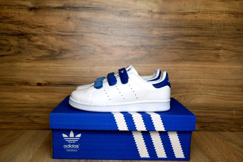 Фото  Adidas Stan Smith White Blue (36-40)