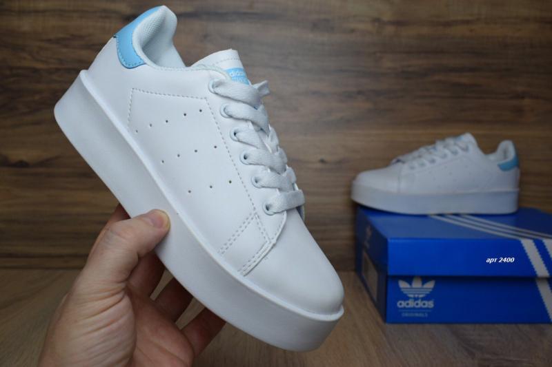 Фото  Adidas Stan Smith White Blue (36-41)