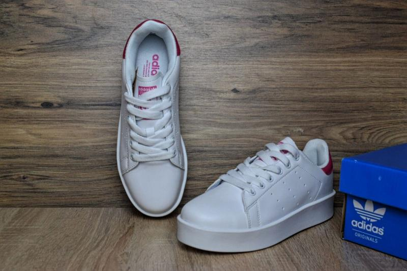 Фото  Adidas Stan Smith White Red (36-41)