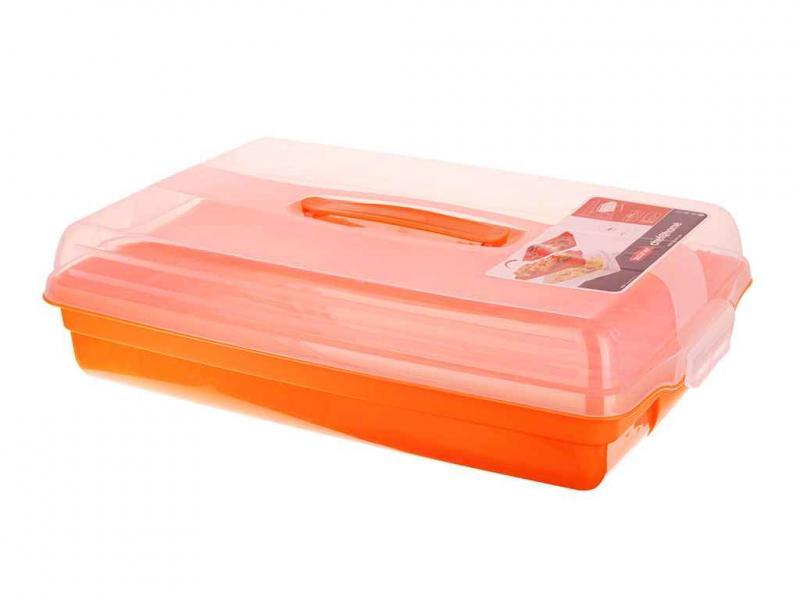 Фото Тортовницы, Тортовницы пластиковые Тортовница с пластиковой ручкой прямоугольная