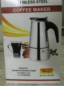Фото  Гейзерная кофеварка из нержавейки на 4 чашечки\ 200мл